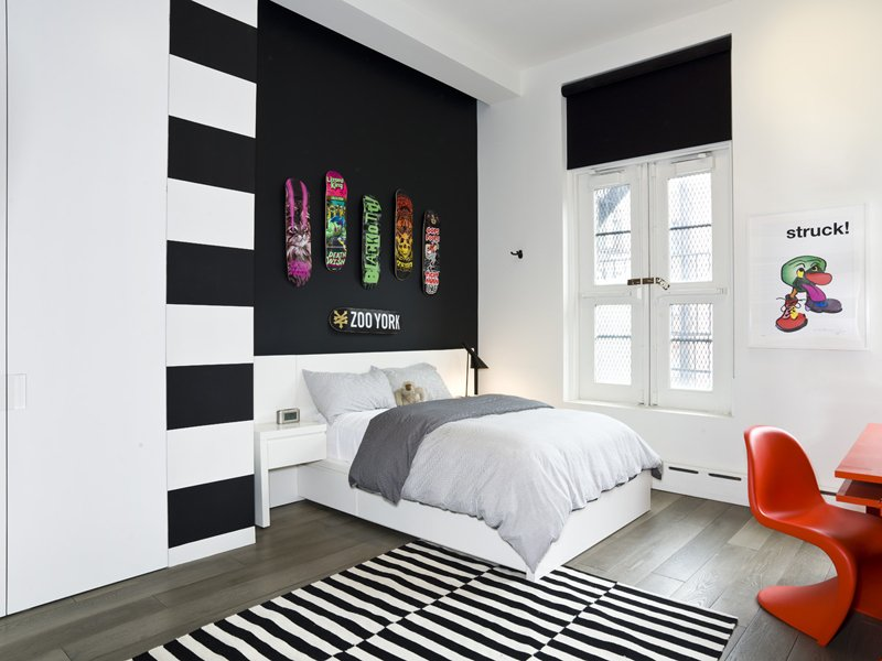 2 Accent Walls 20 beautiful black accent walls in different bedrooms | home