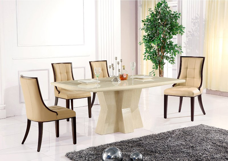 caprice marble rectangular dining table