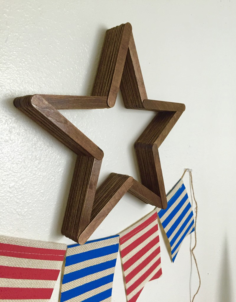 DIY Patriotic Wooden Star Decor