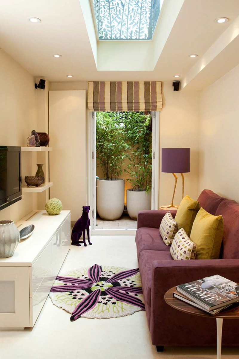 Purple Decorating Living Rooms 20 Stunning Purple Lamps In The Living Rooms Home Design Lover