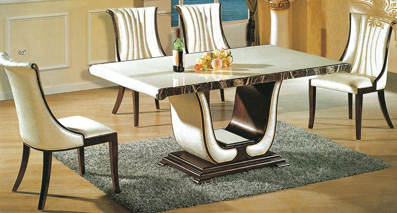 luxury Italian style furniture marble dining table