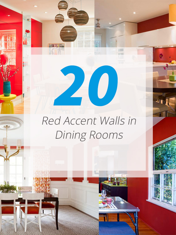 red dining accent walls