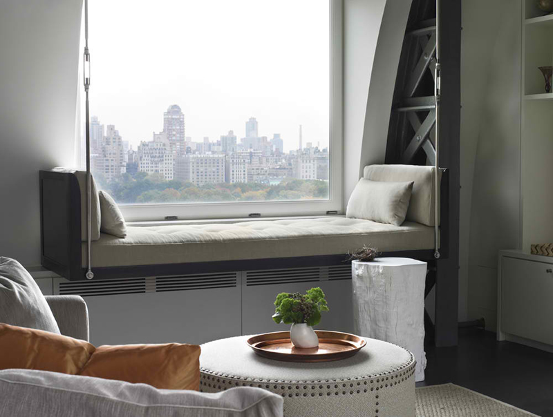 Central Park West20 Comfy Swing Bench in the Living Room   Home Design Lover. Living Room Swing. Home Design Ideas