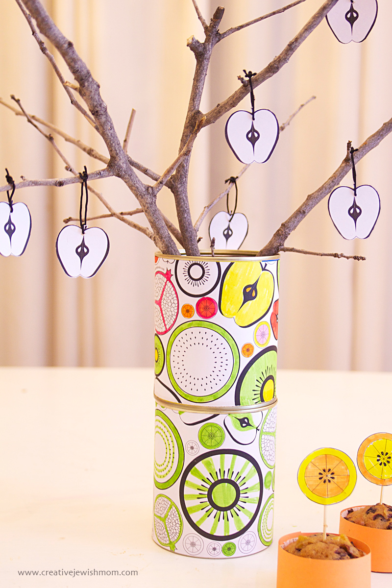 Fruity Tin Can Decorations