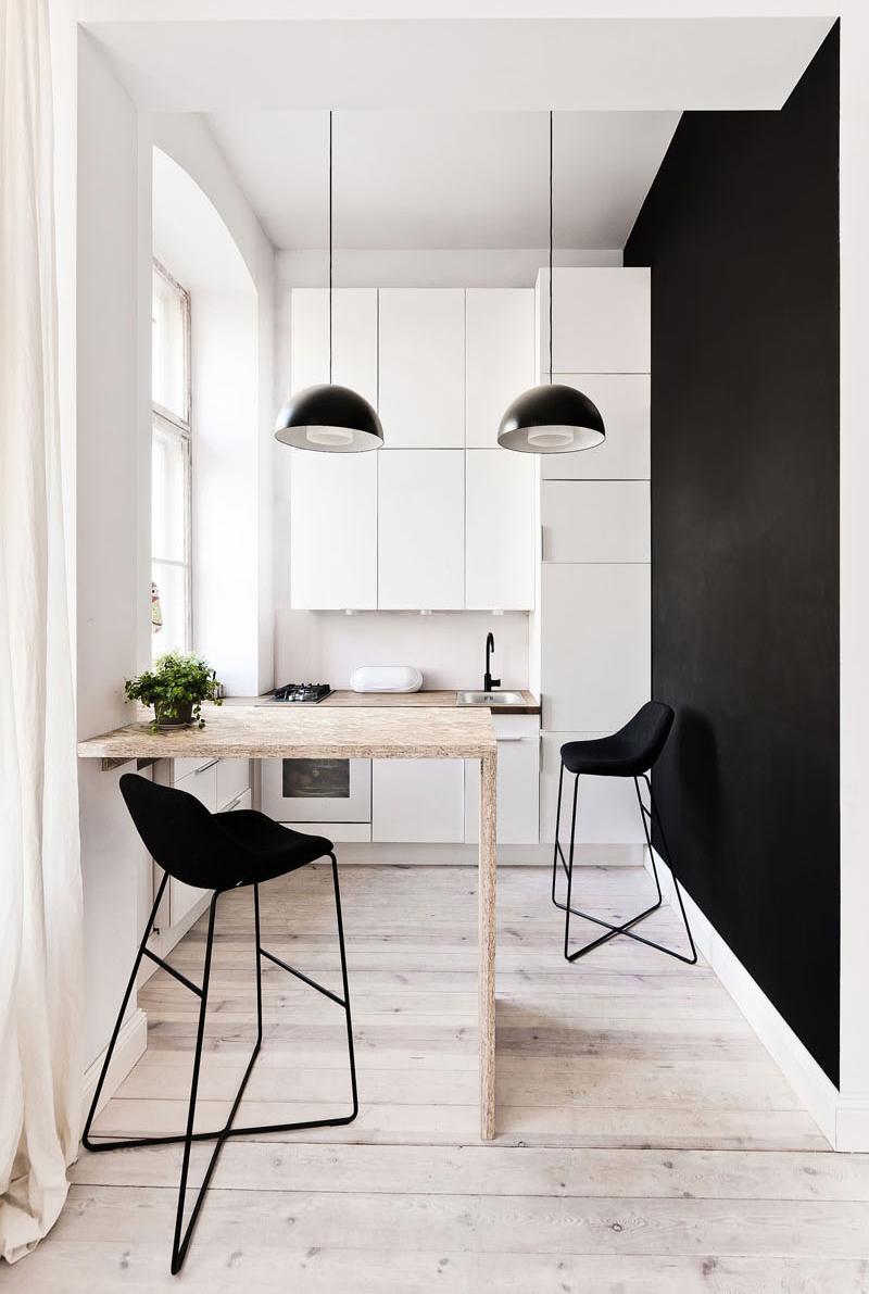 29 sq m loft apartment kitchen