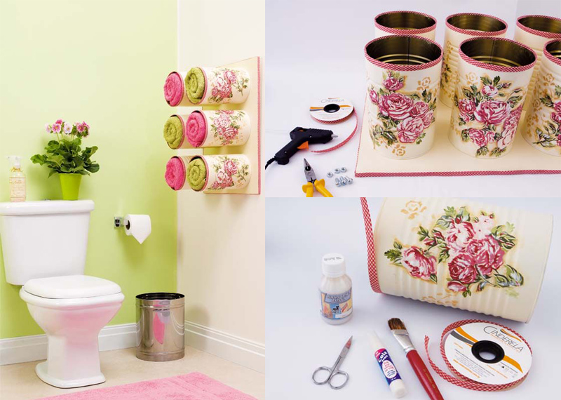 Bathroom Organizing Ideas Tin Cans