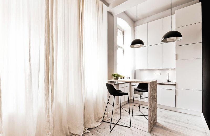 29 sq m loft apartment breakfast bar