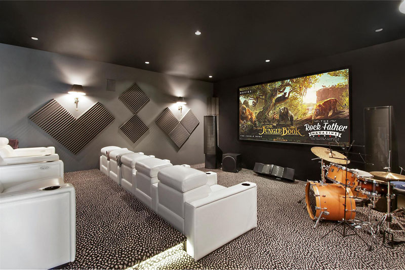 Hamptons Residence home theater