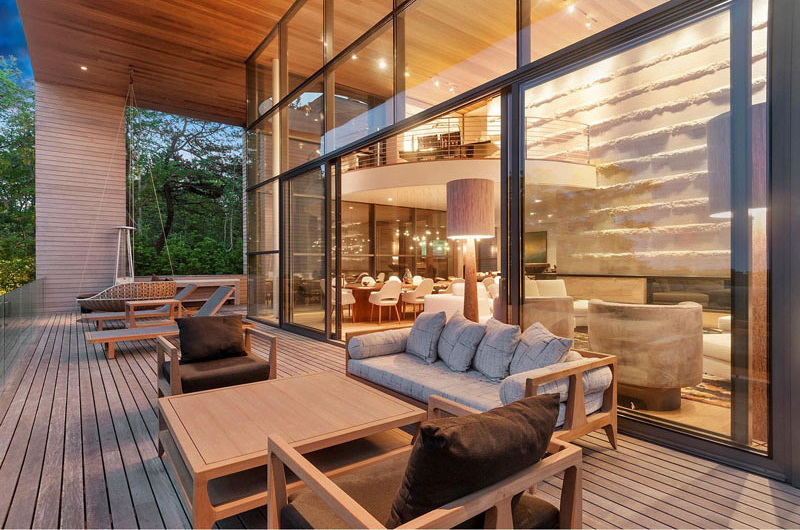 Hamptons Residence wooden deck
