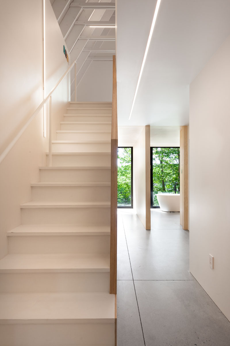 Black Cabin stairs