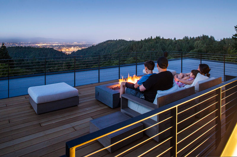 The Music Box Residence rooftop deck