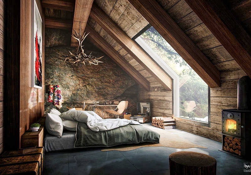 Rustic Attic Bedroom