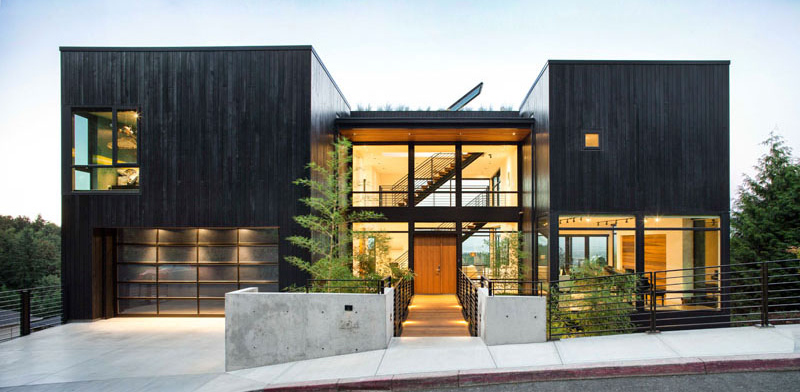 The Music Box Residence landscaped yard