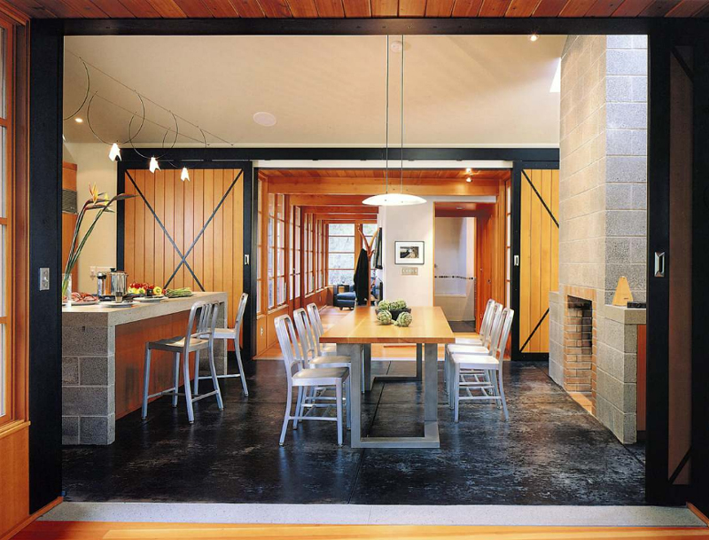 20 splendid dining rooms with wooden sliding doors | home design lover