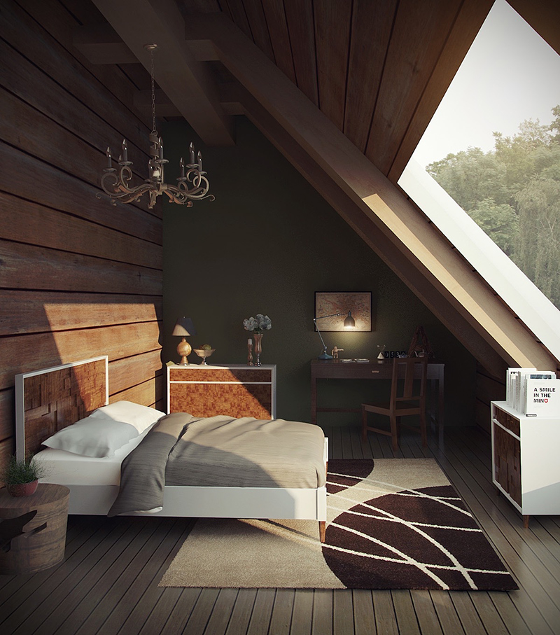 Green Bedroom Attic
