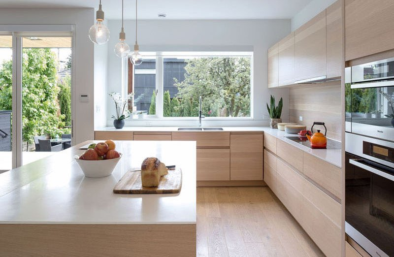 Mid-Block Contemporary House kitchen