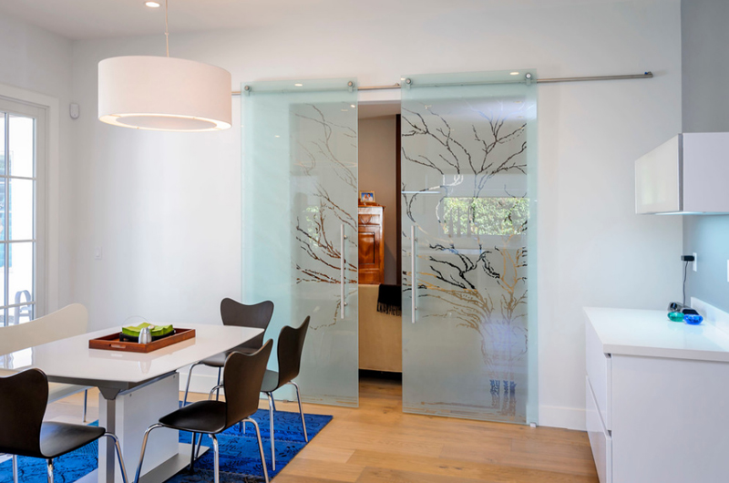 20 lovely glass sliding doors in the dining room | home design lover