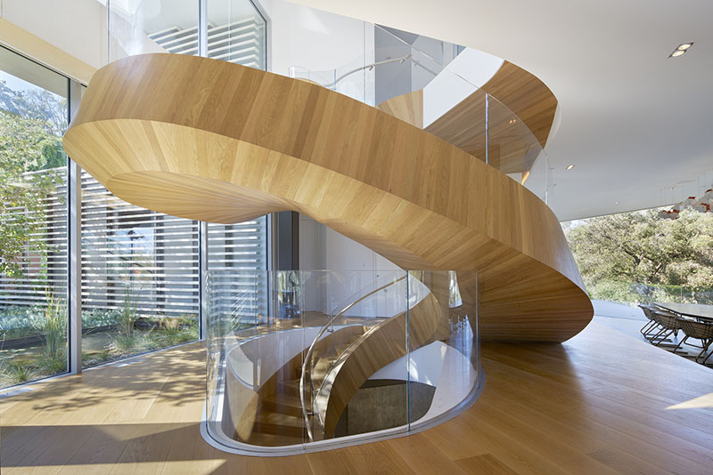 Tree Top Residence eccentrically-helical stair