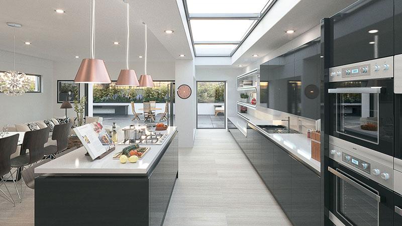 Modern Kitchen/lounge living space