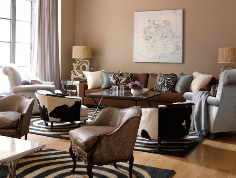 22 Gorgeous Brown and Gray Living Room Designs | Home Design Lover