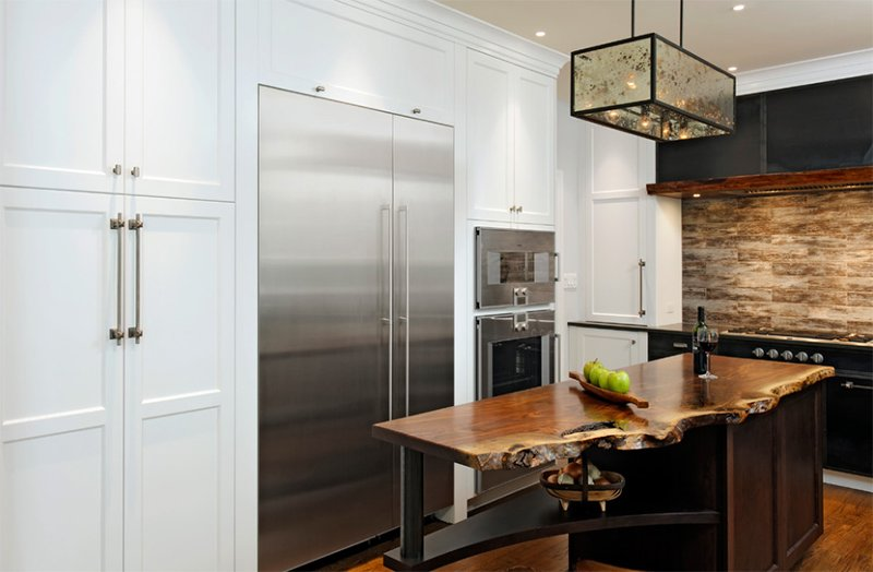 Four Seasons Residence Rustic Modern Kitchen in Steel and Wood