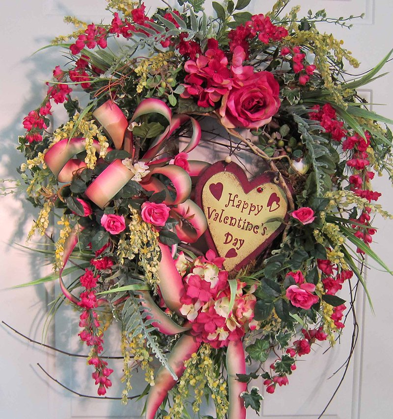 Valentine's Day Front Door Wreath
