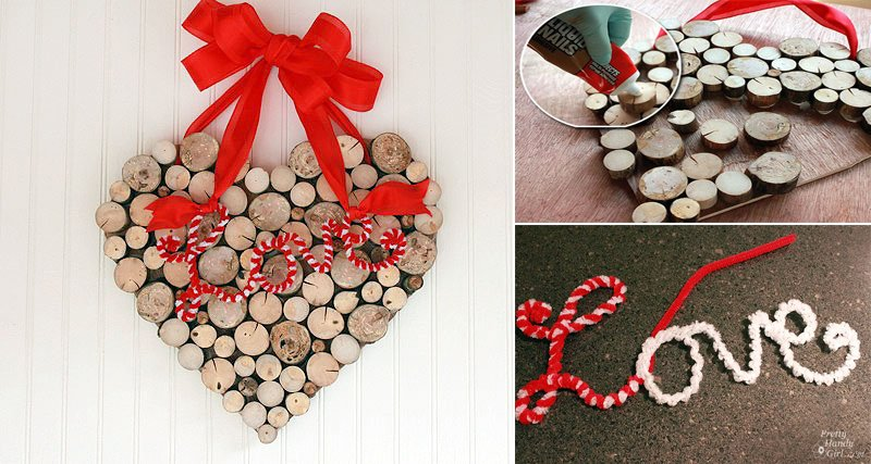 A Valentine's Day Wreath from Tree Branches