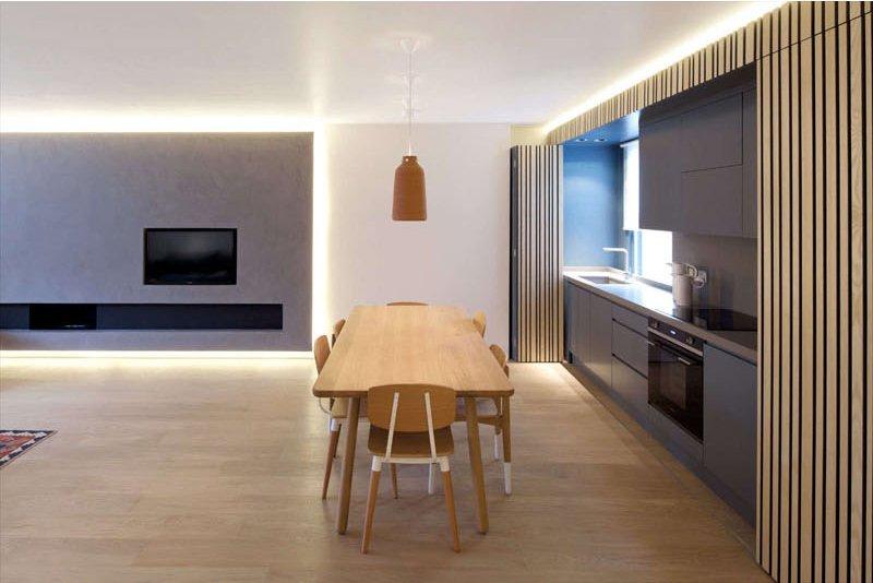 hidden kitchen apartment