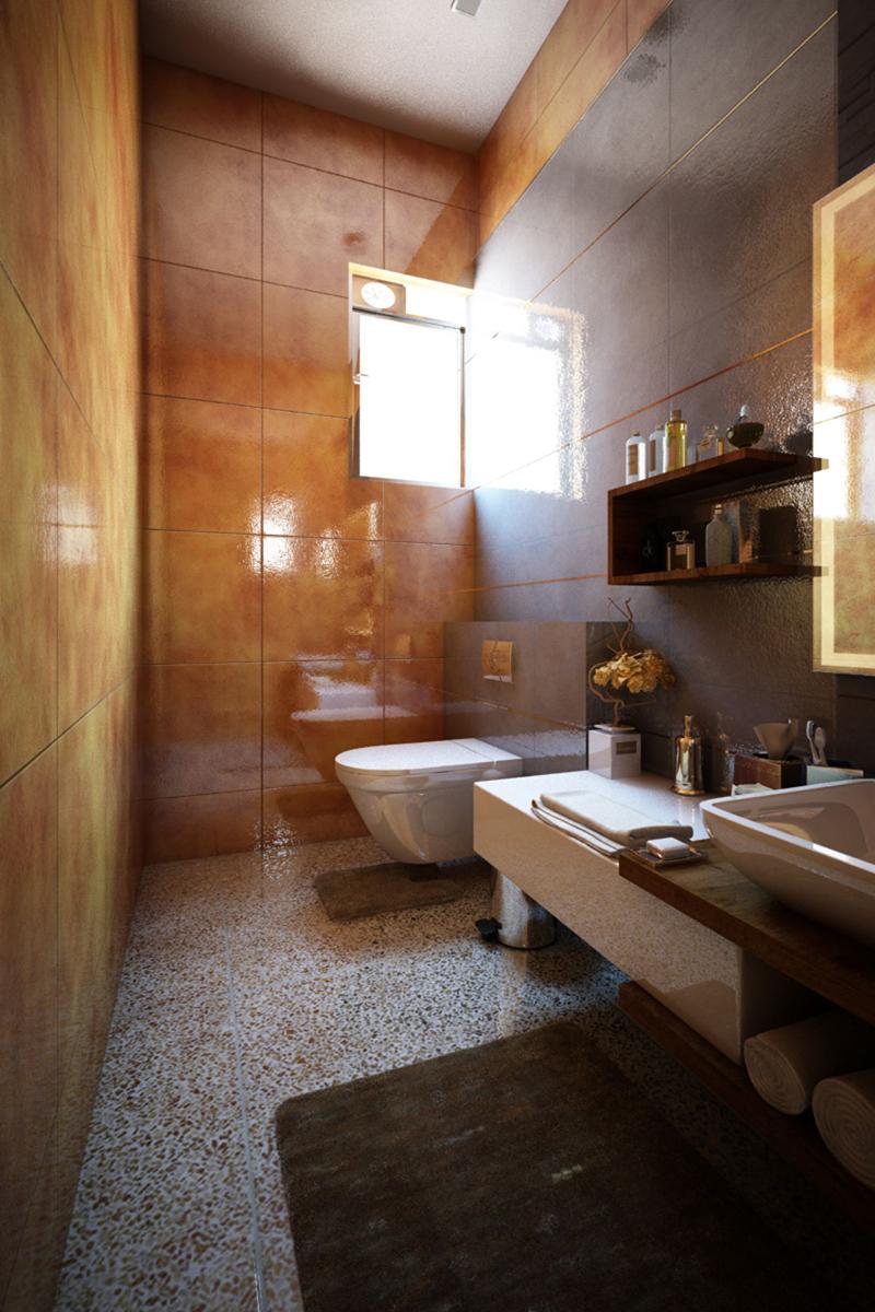 Bathroom with New Light