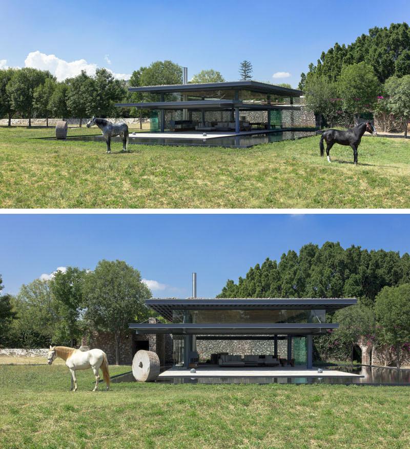 Hacienda El Barreno Visitors Pavilion materials