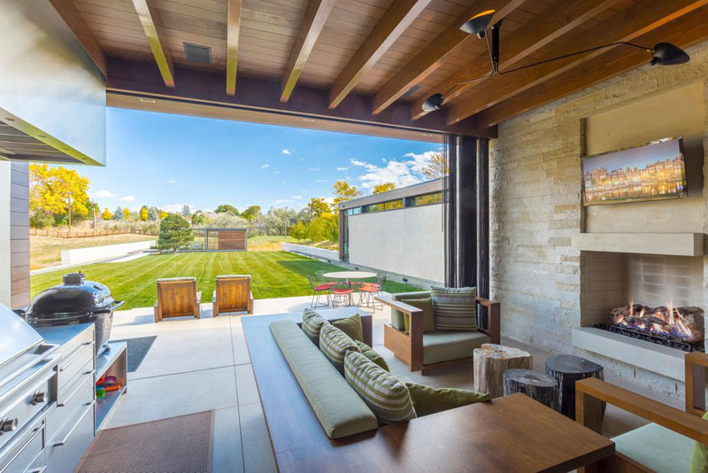Cherry Hills Village Colorado indoor/outdoor living room