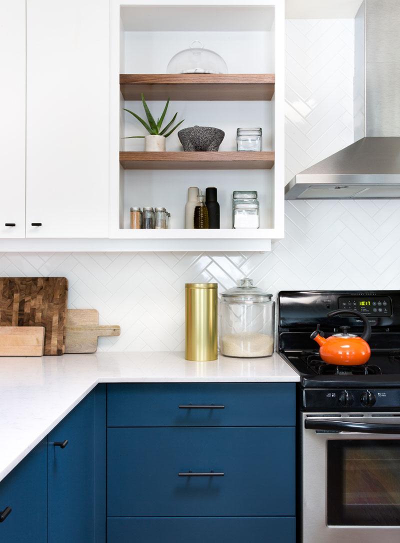 white blue kitchen