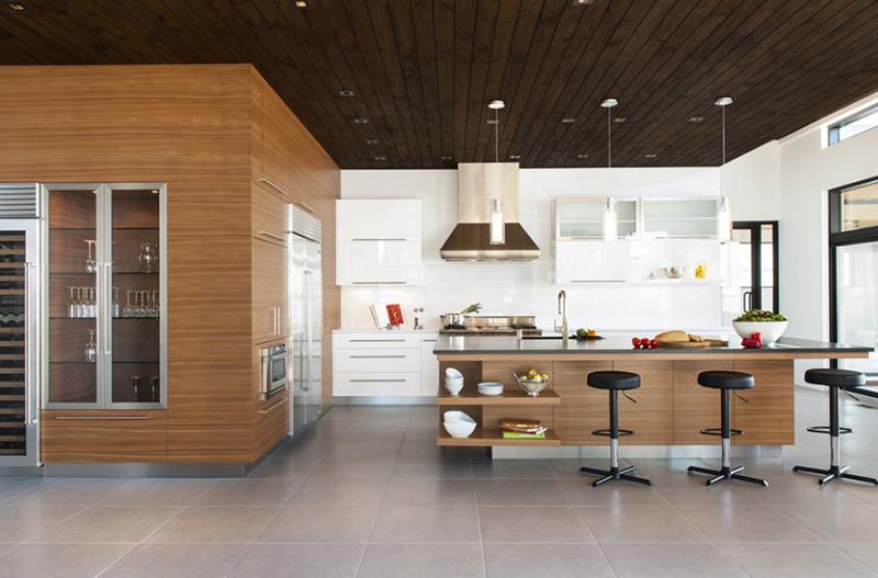 Walnut, Acrylic, Quartz & Stone Kitchen