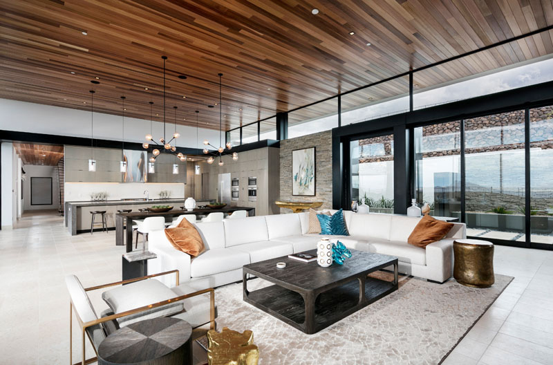 open floor-planned living room