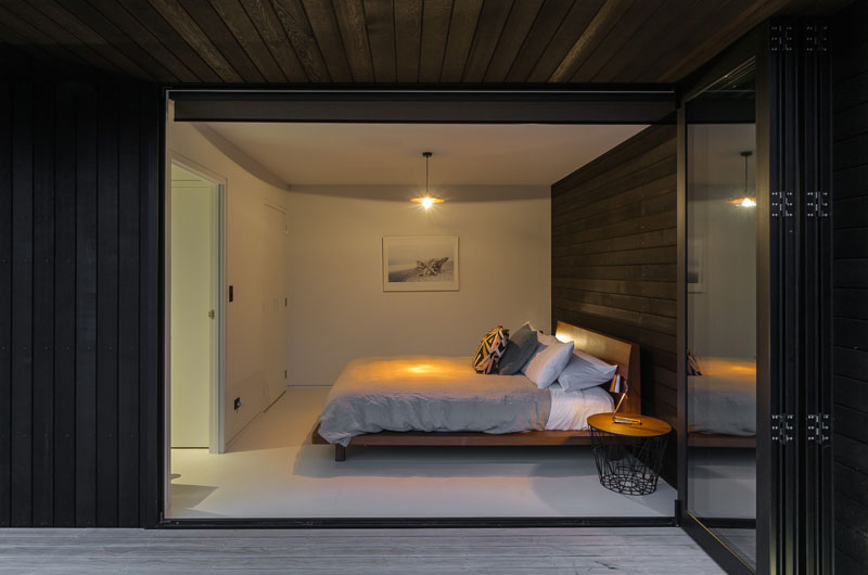 Waiheke modern bedroom in black and white