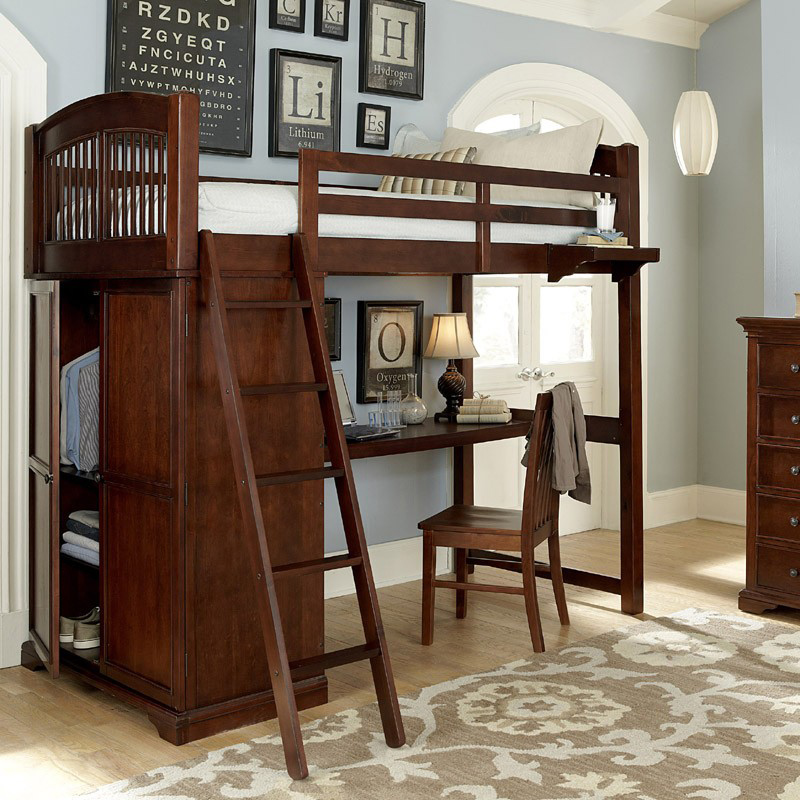 Chester Twin Loft With Desk & Storage