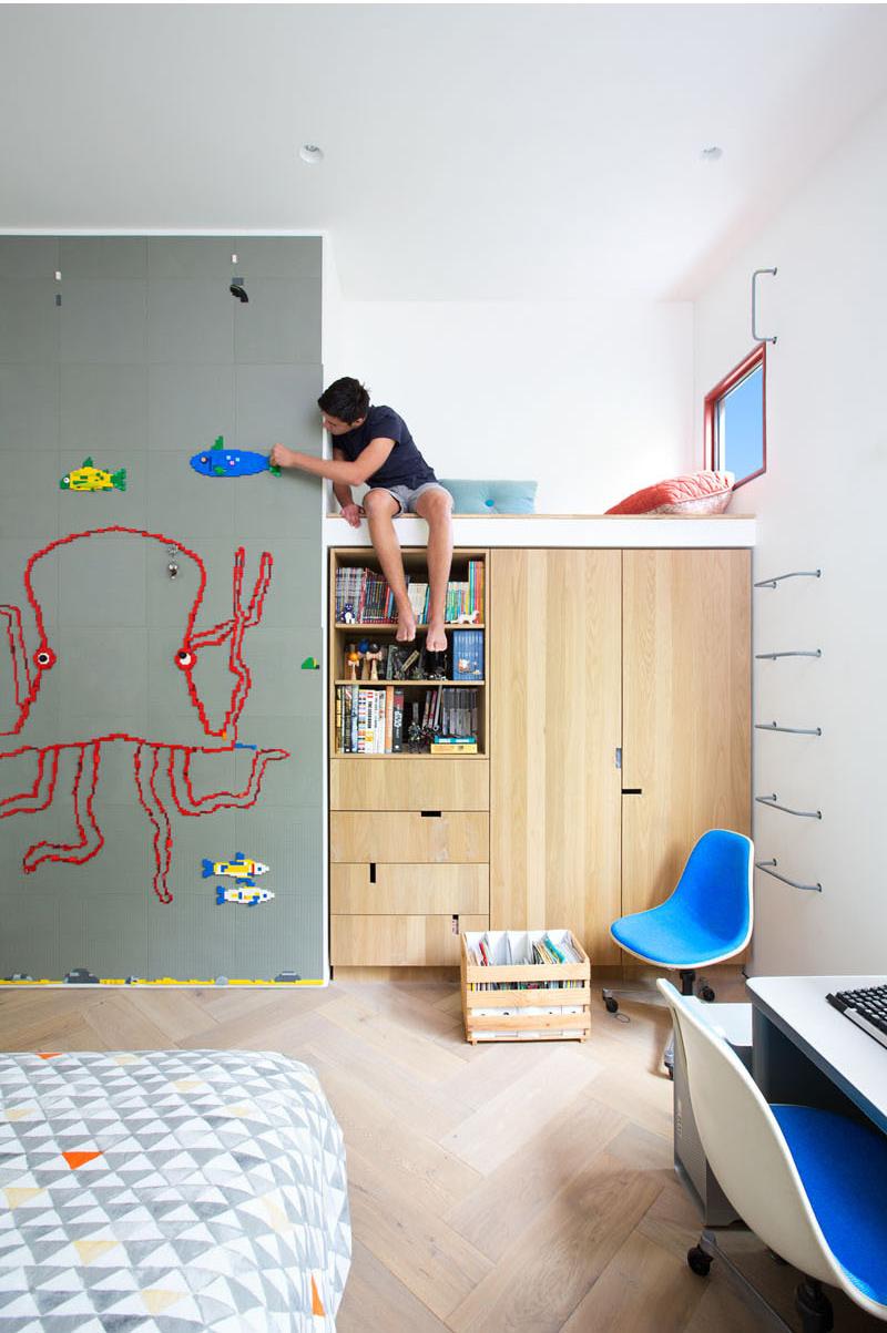 Rough House teen bedroom