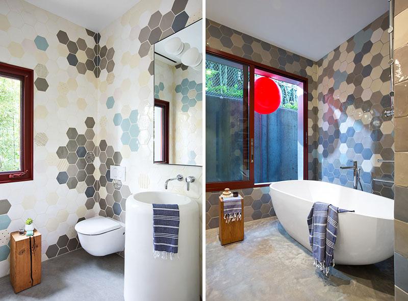 Rough House hexagon tiles