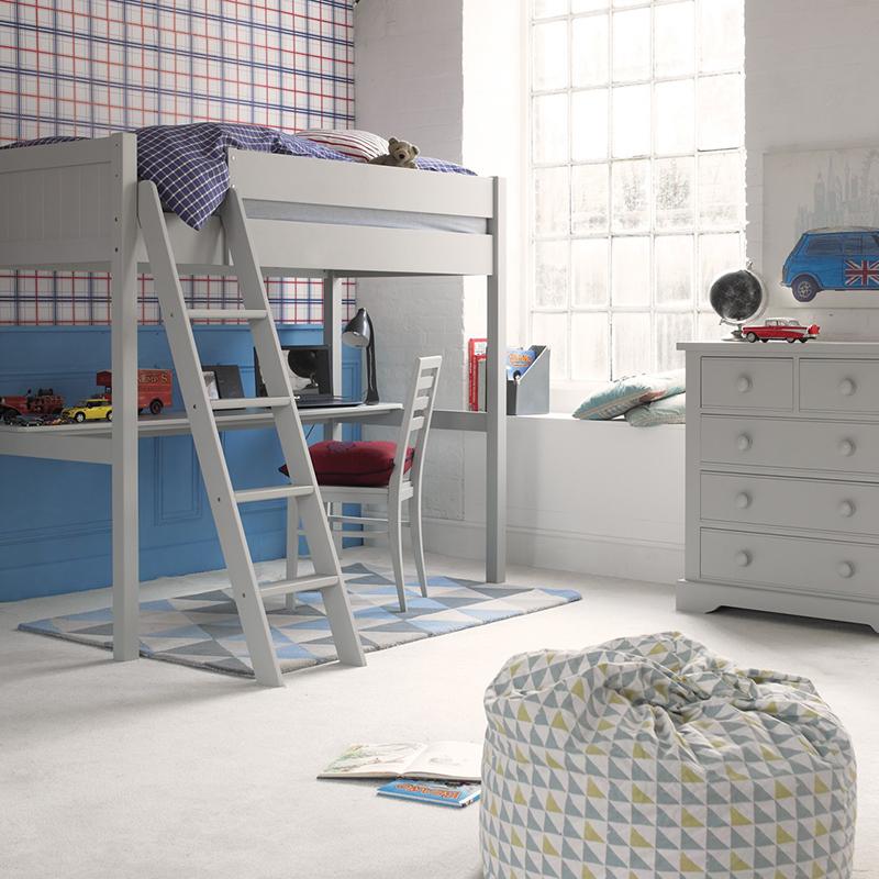 Fargo Farleigh Grey High Sleeper with Full Length Desk