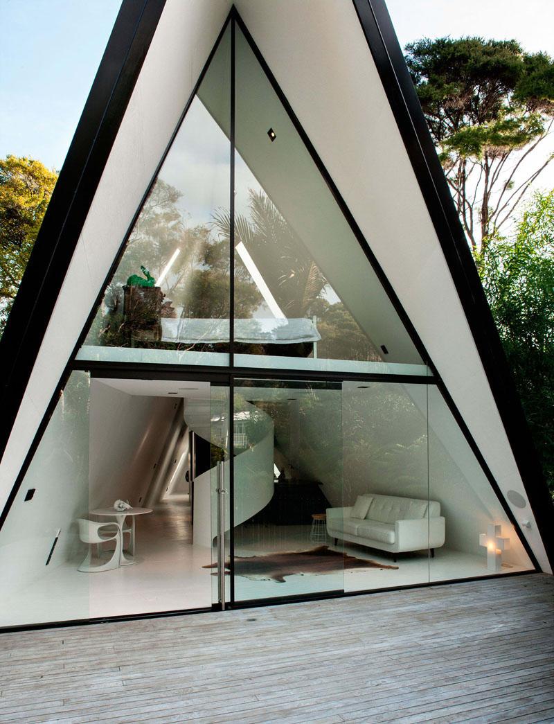 Tent House sliding wooden shutters