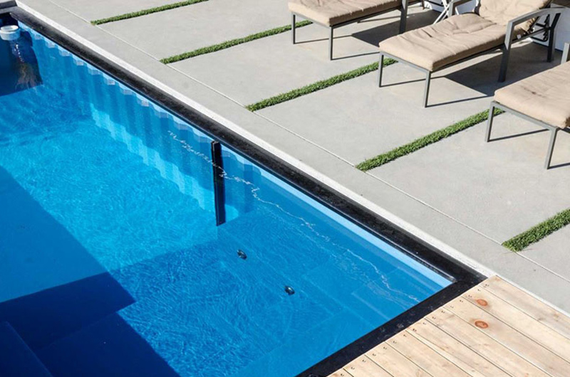 Shipping Container Swimming Pool indoor/outdoor living