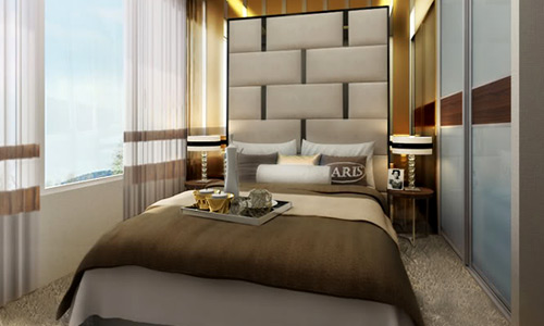 Small Bedroom Big Bed Design