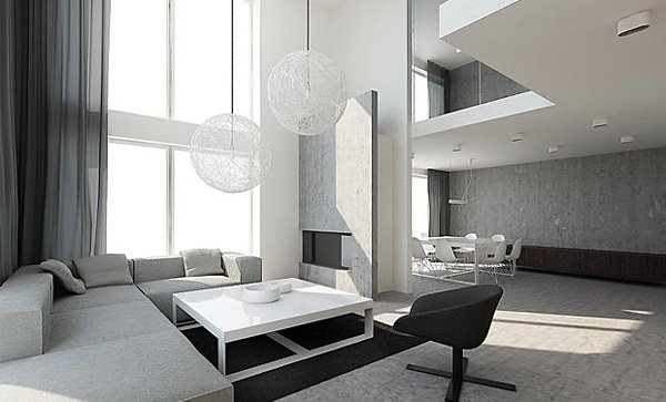 21 stunning minimalist modern living room designs for a for Minimalist hotel design