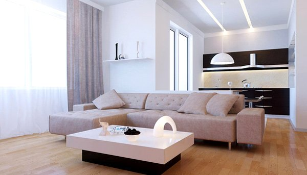 21 stunning minimalist modern living room designs for a for Clean modern living room