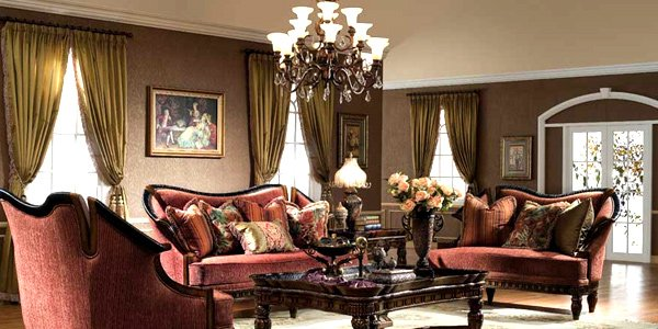 How to have a victorian style for living room designs for Rich colors for living room