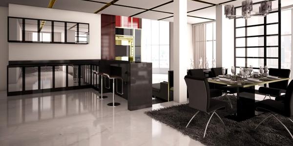 Place minimal furniture