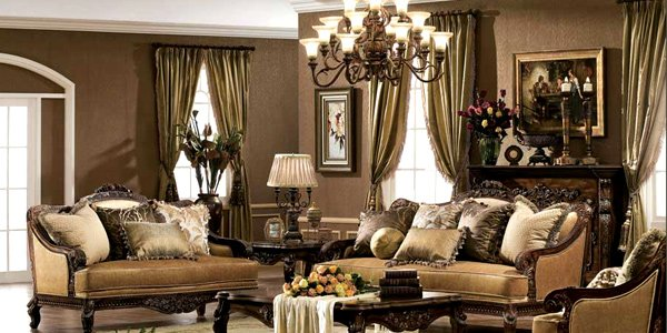 Place intricate window treatments & How to Have a Victorian Style for Living Room Designs | Home Design ...