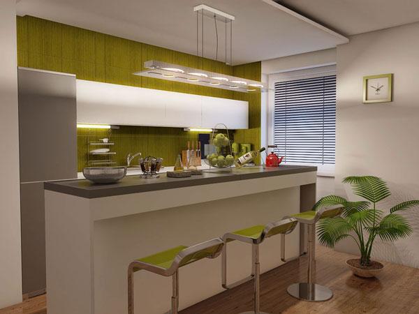 green textured cabinet