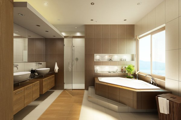 15 stunning modern bathroom designs home design lover for Modern bathroom designs 2016