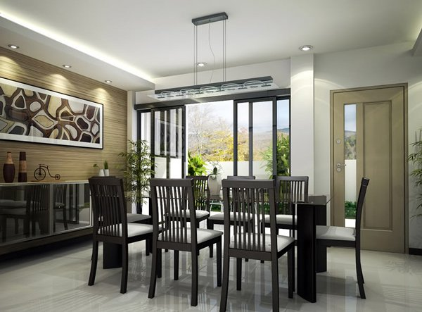 15 adorable contemporary dining room designs home design for Dining room decor modern